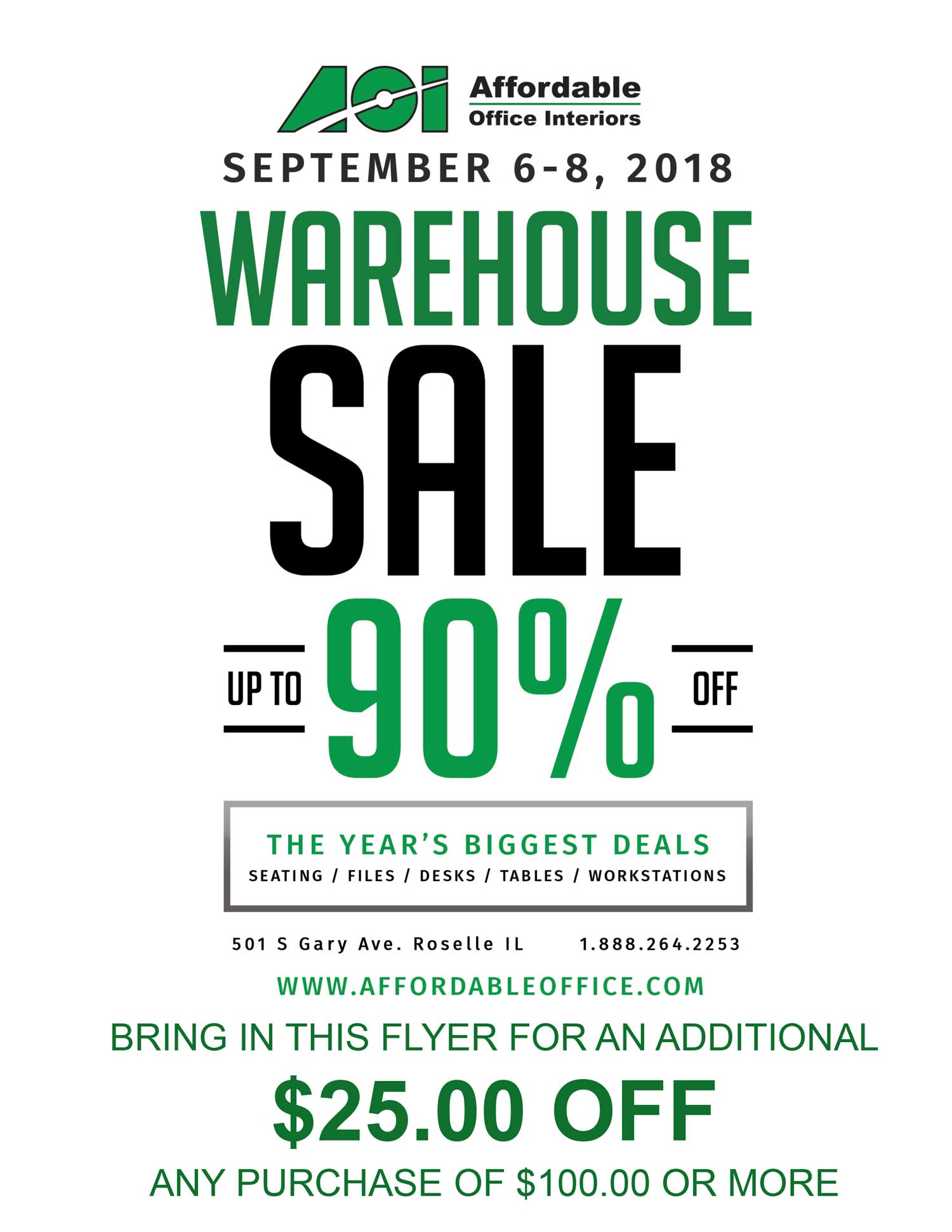 AOI Warehouse Sale 2018