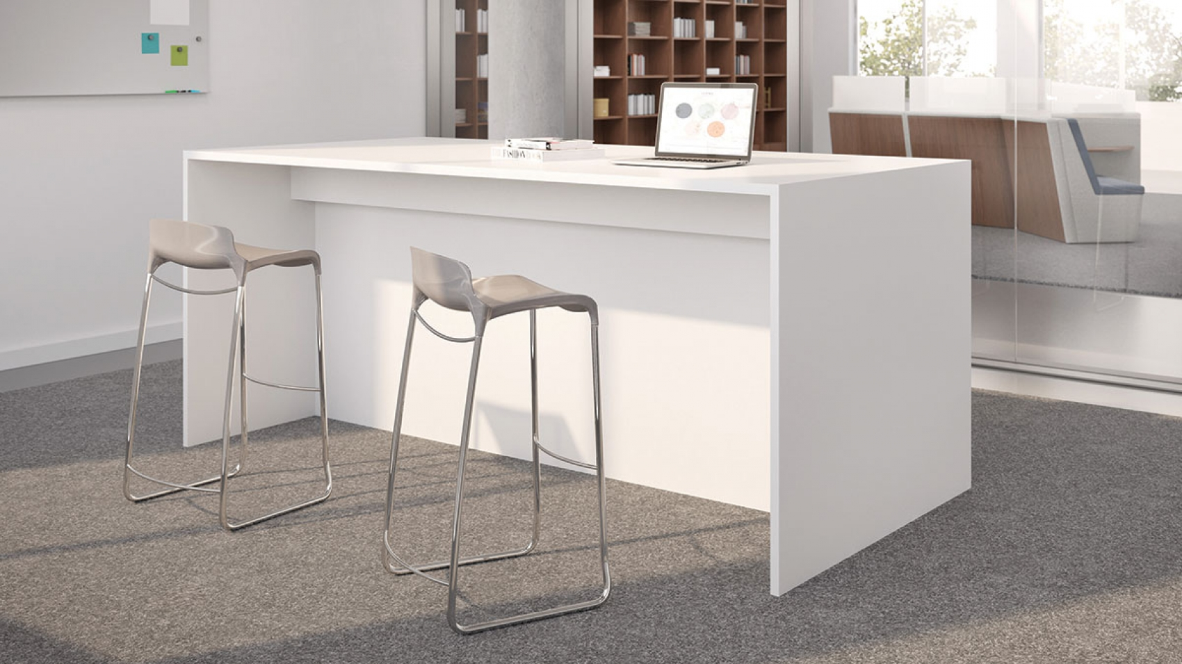 Tables Affordable Office Interiors - High top office table